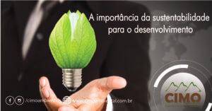 A importância da sustentabilidade para o desenvolvimento.